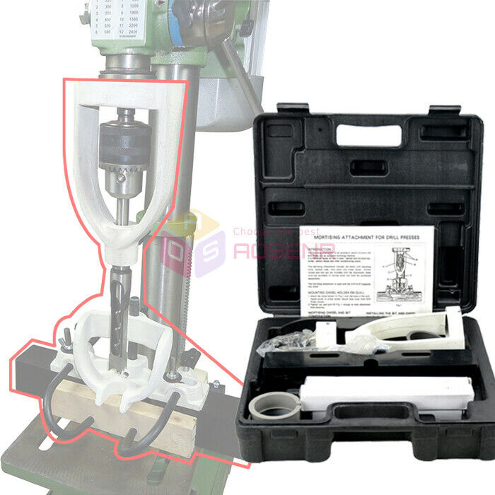 Mortising Kit Drill Press Attachment Woodworking Mortising Locator Tool w/4 Bits