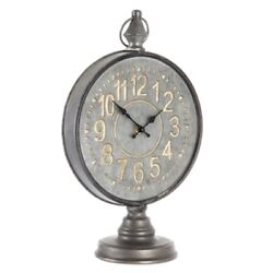 Quite Large Embossed Stopwatch Metal Clock, Industrial Decor Free Ship Here!