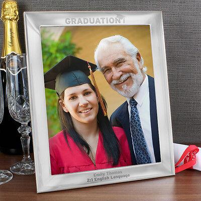 Aluminium Graduation Photo Frames - Free Engraving  - Congratulations, Degree