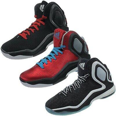 Adidas D Rose 5 Boost Herren Basketballschuhe schwarz rot Synthetik Textil NEU ()
