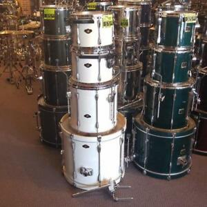 "TAMA Superstar en Bouleau 4mcx 12"", 13"", 16"", 22"" Blanc usagé/4 pcs birch white shellkit - used"