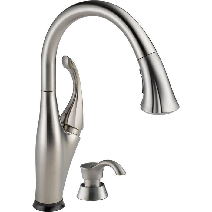 Delta Kitchen Faucets : Top 5 Delta Kitchen Arctic Stainless Faucets eBay