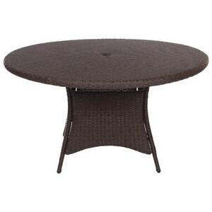 "Lioni Tropea 7T143-142RA-W-1BRN Patio 56"" Round Table Brown ***READ***"