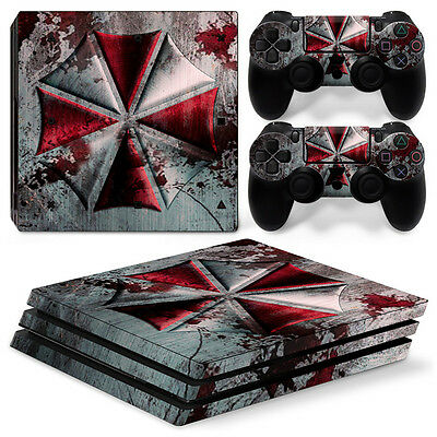 PS4 Pro Playstation 4 Console Skin Decal Sticker Resident Evil Custom Design...