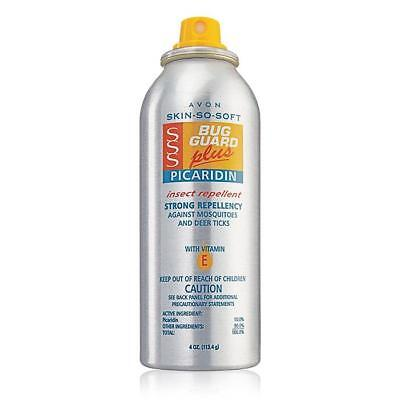 AVON SSS BUG GUARD PLUS PICCARIDIN ARESOL SPRAY INSECT REPELLENT 4 oz $20 VALUE!