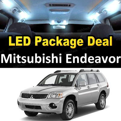 8X White Led Lights Interior Package Deal For 2004   2011 Mitsubishi Endeavor