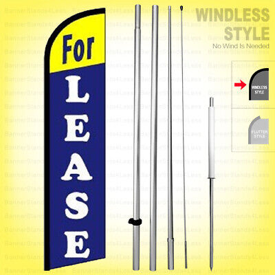 For Lease - Windless Swooper Flag Kit 15 Feather Banner Sign Bf-h