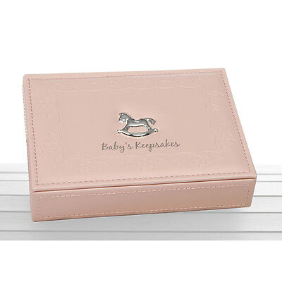Baby Keepsake Memory Box (Pink) Baby Girl Christening or shower Gift  NEW  22384