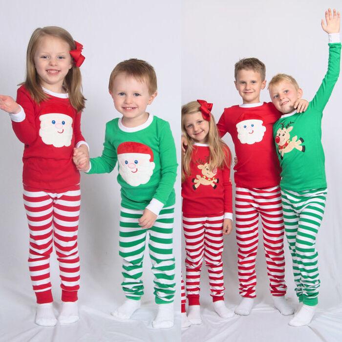 XMAS KIDS CHILDREN Family Matching Christmas Pajamas Sleepwear ...