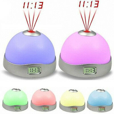 7 Colors LED Change Star Night Light Magic Projector Backlight Clock Salable