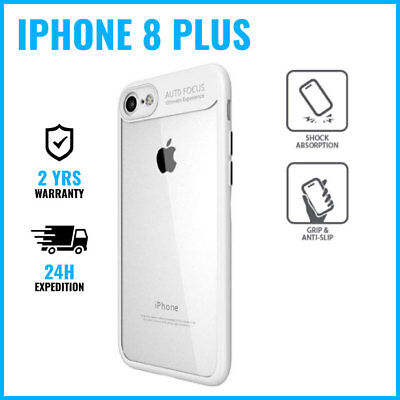 Armor Cover Cas Coque Etui Silicone Hoesje Case Black For iPhone 8 Plus White