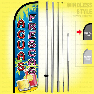 Aguas Frescas - Windless Swooper Flag Kit 15 Feather Banner Sign Qfrs-h
