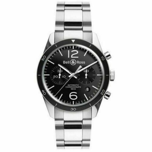 Bell & Ross Vintage Sport Chronograph Automatic Men's Watch BRV126-BL-BE/SST - watch picture 1