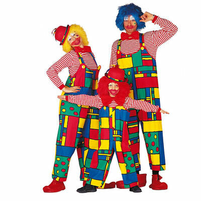 Damen-Kostüm Latzhose Clown Clownskostüm Zirkus Clownkostüm