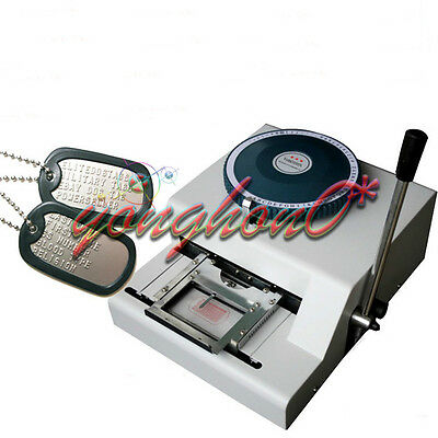 Manual Steel Dog Tag Embosser Id Card Military Embossing Stamping Machine 52d