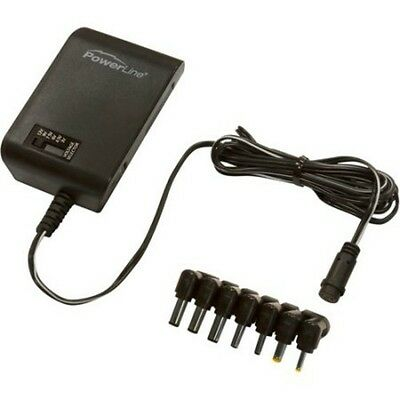 Powerline Universal Multi-Use AC Adapter 3-12 V / 600 mA 7 Plugs