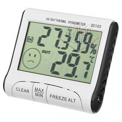 Igrometro Termometro Digitale Umidità IN OUT Sonda Esterno Interno Casa Negozio