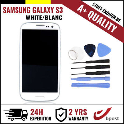 A+ LCD TOUCH SCREEN/SCHERM/ÉCRAN WHITE + TOOLS FOR SAMSUNG GALAXY S3 I9300