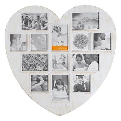 XL Herz Bilderrahmen 60x59cm 13 Fotos Galerie Foto Collage Antik Bilderrahmen