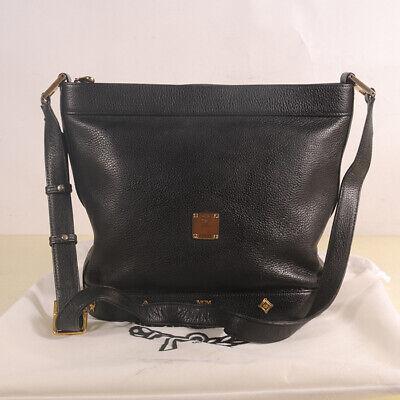 AUTHENTIC MCM Leather Shoulder Cross body Bag + Dust Bag
