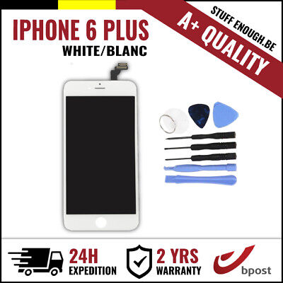 A+ LCD TOUCH SCREEN DIGITIZER SCHERM/ÉCRAN WHITE BLANC & TOOLS FOR IPHONE 6 PLUS
