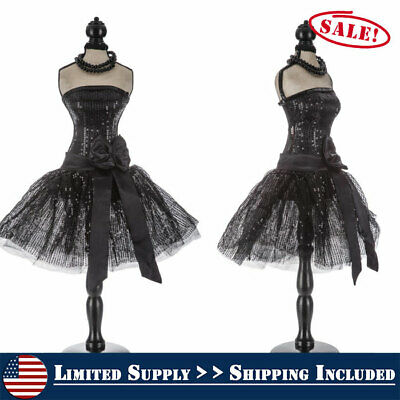 Sophisticated And Stylish Mannequin Sequin Dress Form On Stand Decoration New