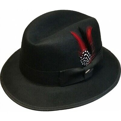 Mens Black Felt Lowrider Fedora (Whittier) By Summit Hats](Fedora Black)