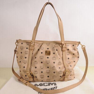 AUTHENTIC MCM Visetos Vintage Shopper Bag + Dust cover