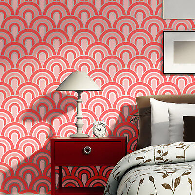 Wall Stencils Scallop Pattern Allover stencil for Painting better than