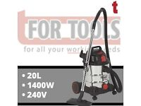 Sealey PC200SD 20L 1250W 240V Vacuum Cleaner Industrial Wet/Dry Stainless