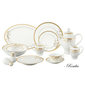 brand new in Box! 57 piece elegant bone china