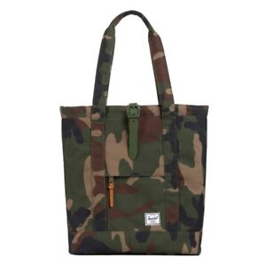 Dark Green Camouflage Canvas Tote Bags for Unisex