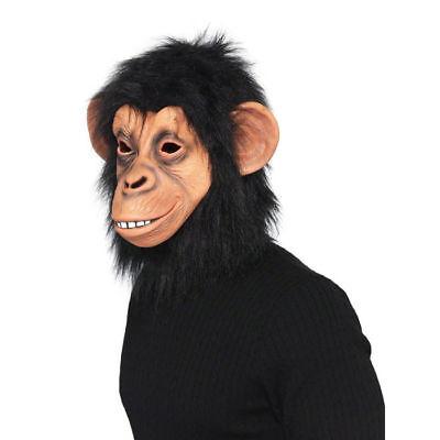 Affenmaske Schimpanse Latexmaske mit Haaren Karnevalsmaske Kostümmaske Tiermaske