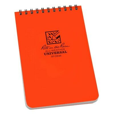 Rite In The Rain Or46 All-weather Universal Spiral Notebook Orange 4 X 6
