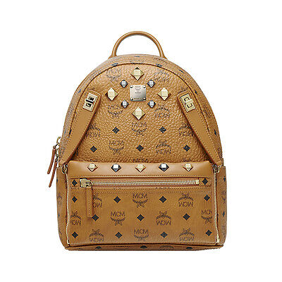 MCM Small BackPack Stark MMK6SVE80CO Cognac Color