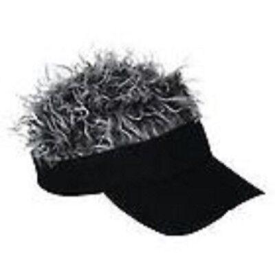 Hat with hair cap wig hair baseball golf black hat grey or brown hair - Golf Visor With Hair