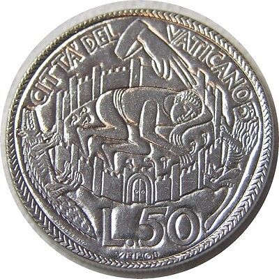 elf Vatican City 50 Lire 1975 Pope Paul VI   Holy Year  Peace of the Lord
