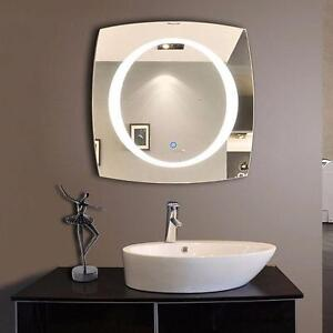 28x28 & 40x40 Square LED Mirror with Round lighting inside