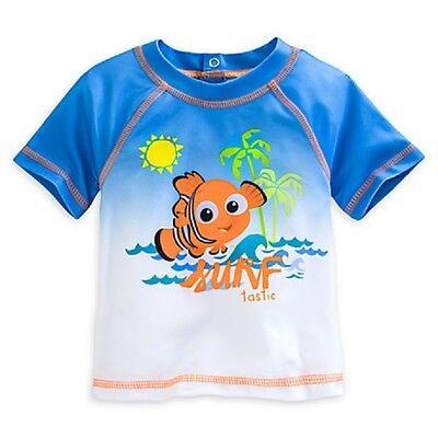 Jungen Rash Guard Shirt (DISNEY STORE NEMO RASH GUARD FOR BABY SURFER STYLE STRETCH SWIM SHIRT NWT)