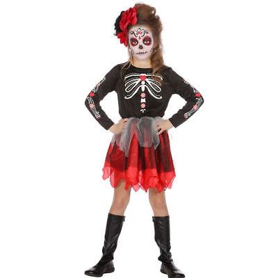 Tag Der Toten (Halloween Skelett Kostüm Tag der Toten für Kinder, verschiedene Größen)