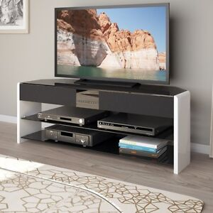 NEW! Glossy TV Stand w/ Sound Bar!