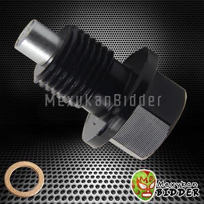 Black Anodized Aluminum Magnetic Oil Drain Plug Bolt W  Washer M14x1 5Mm Honda
