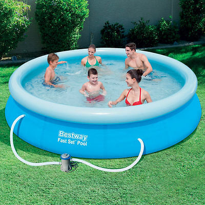 12FT BESTWAY EASY FAST SET FAMILY OUTDOOR GARDEN POOLS SWIMMING PADDLING POOL