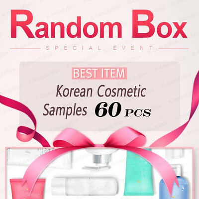 Best Korean cosmetic samples 60pcs RANDOM BOX Special Event Moisture