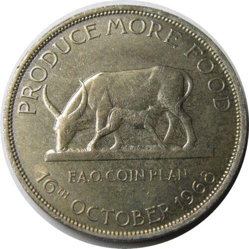 elf Uganda 5 Shillings 1968  FAO Cow