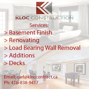 STRUCTURAL CARPENTER / LOAD BEARING WALLS REMOVED