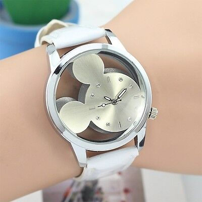 $0.99 - Mickey Luxury Womens Watch Kids Stainless Steel Leather Analog Wrist Watch reloj