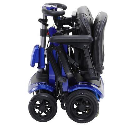 Solax 4 Wheel Automatic Folding Mobility Scooter with Remote Control Blue 4mph