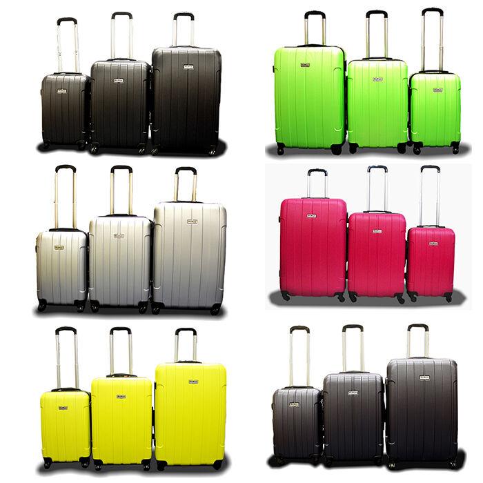 New Generic 3PCS Luggage Travel Bag 3 PCS ABS Trolley Suitcase w/ Lock-Choose