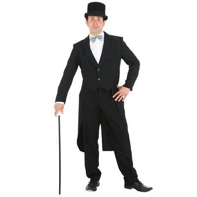 Herren-Kostüm Frack, schwarz Variete Kabarett Theater Herrenfrack